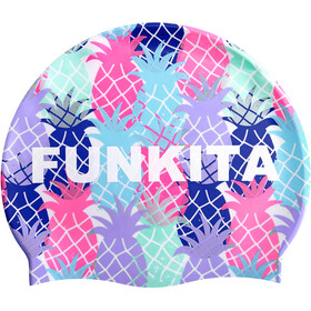 Funkita Silicone Swimming Cap, pineapple head